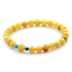 Natural Baltic Amber Bracelet Round Beads 7mm 4.61gr SPR282