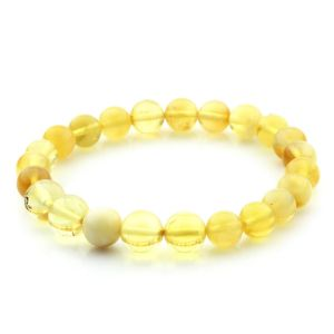 Natural Baltic Amber Bracelet Round Beads 9mm 6.70gr SPR288