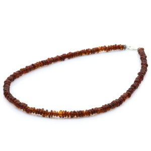 Adult Baltic Amber & 925 Sterling Silver Necklace 45cm. OCT84