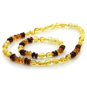 Baltic Amber Teething Necklace & Bracelet Set. Limited Edition LE65