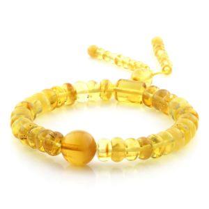 Adult Baltic Amber Bracelet Round Tablet Beads 8mm 10gr. AD195