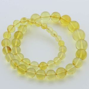 Natural Baltic Amber Necklace Round Beads up to 16mm 48cm 36gr. FBR22