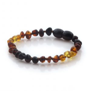 Natural Baltic Amber Teething Bracelet. Baroque LE94