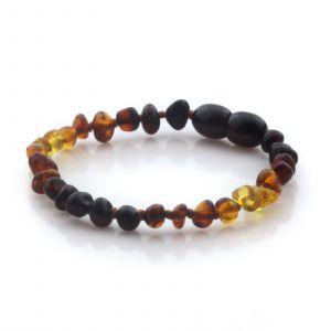 Natural Baltic Amber Teething Bracelet. Baroque LE94