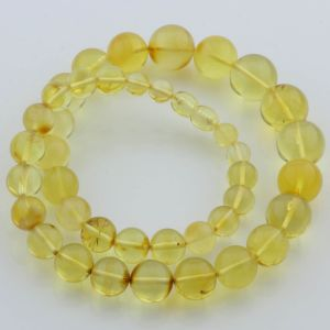 Natural Baltic Amber Necklace Round Beads up to 15mm 46cm 38gr. FBR21