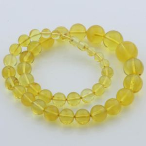 Natural Baltic Amber Necklace Round Beads up to 18mm Beads 49cm 40gr. FBR23