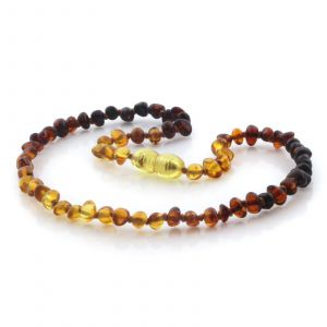Natural Baltic Amber Teething Necklace. Baroque LE95
