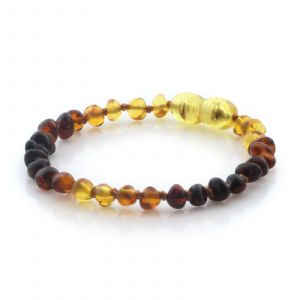 Natural Baltic Amber Teething Bracelet. Baroque LE95