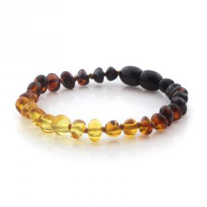 Natural Baltic Amber Teething Bracelet. Baroque LE96