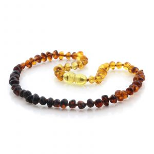 Natural Baltic Amber Teething Necklace. Baroque LE97