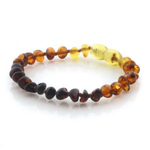 Natural Baltic Amber Teething Bracelet. Baroque LE97