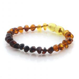 Natural Baltic Amber Teething Bracelet. Baroque LE97