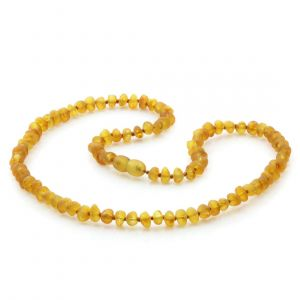 Adult Raw Baltic Amber Necklace. Baroque Light Cognac Rough 5x4 mm