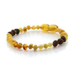 Natural Baltic Amber Teething Bracelet. Baroque LE81