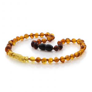 Natural Baltic Amber Teething Necklace. Baroque LE84