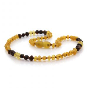 Natural Baltic Amber Teething Necklace. Baroque LE85