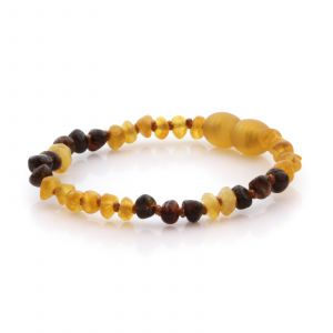 Natural Baltic Amber Teething Bracelet. Baroque LE85