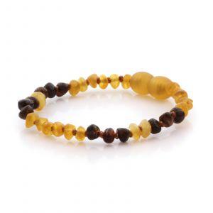 Natural Baltic Amber Teething Bracelet. Baroque LE85