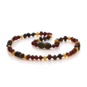 Natural Baltic Amber Teething Necklace. Baroque LE86