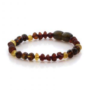 Natural Baltic Amber Teething Bracelet. Baroque LE86