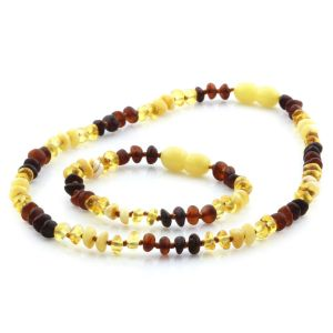 Baltic Amber Teething Necklace & Bracelet Set. Limited Edition LE08