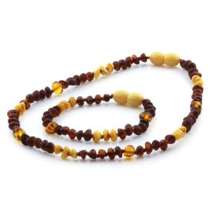 Baltic Amber Teething Necklace & Bracelet Set. Limited Edition LE09