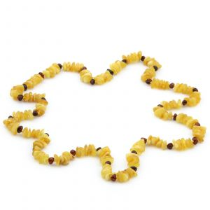 70cm Long Genuine Baltic Amber Necklace for Adult. AGS007E
