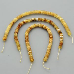 "Natural Baltic Amber Loose Beads Strings Set of 3 Pcs. 20cm / 7.87"" - Tablet. ST300"