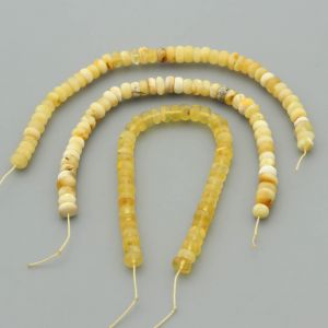 """Natural Baltic Amber Loose Beads Strings Set of 3 Pcs. 20cm / 7.87"""" - Tablet. ST315"""