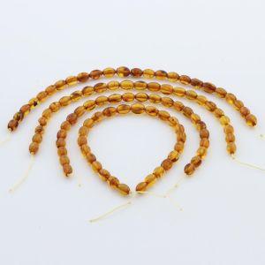 Natural Baltic Amber Loose Beads Strings Set of 4pcs. 17gr. ST994