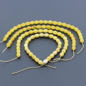 Natural Baltic Amber Loose Beads Strings Set of 4pcs. 20gr. ST995