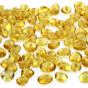 50 pcs. Loose Baltic Amber Beads Yellow Ba 4x3mm
