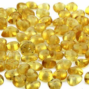 Baltic Amber Beads Round Flat Yellow