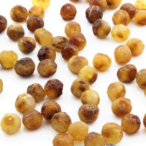 25 PCS. LOOSE BALTIC AMBER BEADS MILKY ORANGE ROUGH BA 9X5 MM