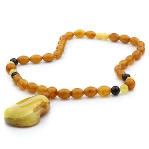 Natural Baltic Amber Necklace with Pendant 45cm 38gr. NP14