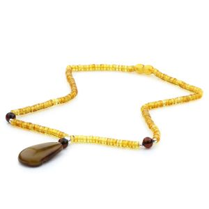 Natural Baltic Amber Necklace with Pendant 45cm 12gr. NP19