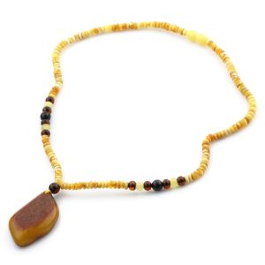 Natural Baltic Amber Necklace with Pendant 45cm 13gr. NP26
