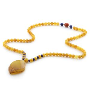 Natural Baltic Amber Necklace with Pendant 60cm 30gr. NP28