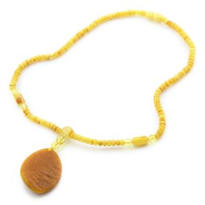Natural Baltic Amber Necklace with Pendant 45cm 14gr. NP35