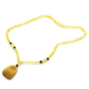 Natural Baltic Amber Necklace with Pendant 45cm 10gr. NP40