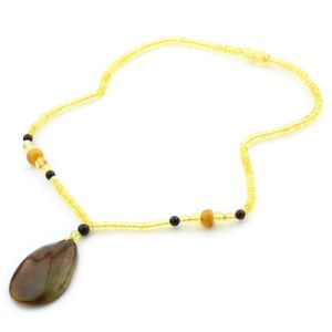 Natural Baltic Amber Necklace with Pendant 45cm 12gr. NP41