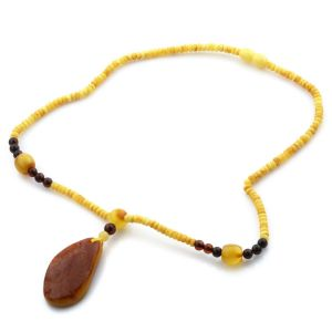 Natural Baltic Amber Necklace with Pendant 45cm 12.5gr. NP45