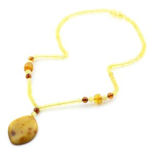 Natural Baltic Amber Necklace with Pendant 45cm 11.5gr. NP46