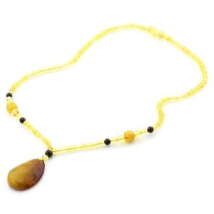 Natural Baltic Amber Necklace with Pendant 45cm 10.5gr. NP48