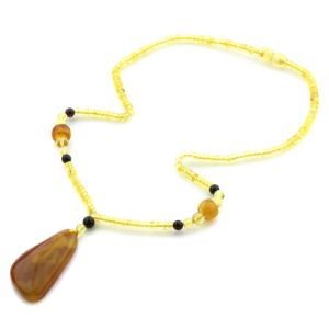 Natural Baltic Amber Necklace with Pendant 45cm 11.5gr. NP50
