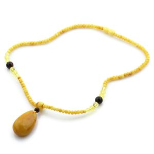 Natural Baltic Amber Necklace with Pendant 45cm 13gr. NP51