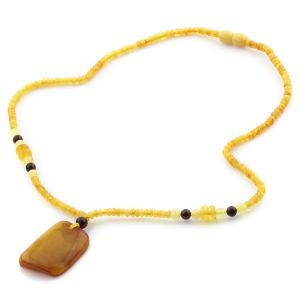 Natural Baltic Amber Necklace with Pendant 45cm 9.5gr. NP54