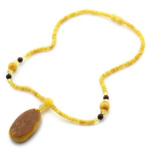 Natural Baltic Amber Necklace with Pendant 45cm 14.5gr. NP55