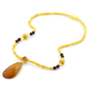 Natural Baltic Amber Necklace with Pendant 45cm 13.5gr. NP56