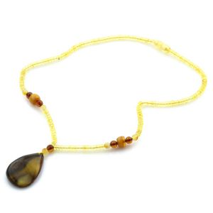 Natural Baltic Amber Necklace with Pendant 45cm 11gr. NP58